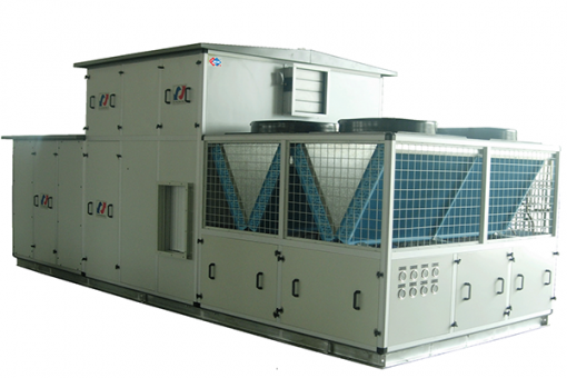 Rooftop package air cooled chiller unit
