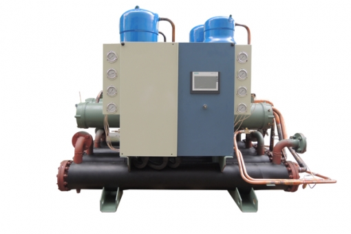 Sewage source high temperature hot water unit