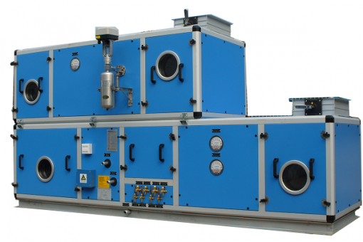 multifunction central station AHU with desiccant rotor
