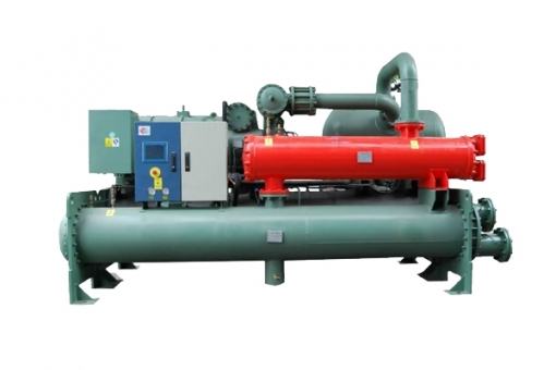 flooded type and screw type chiller with heat recovery
